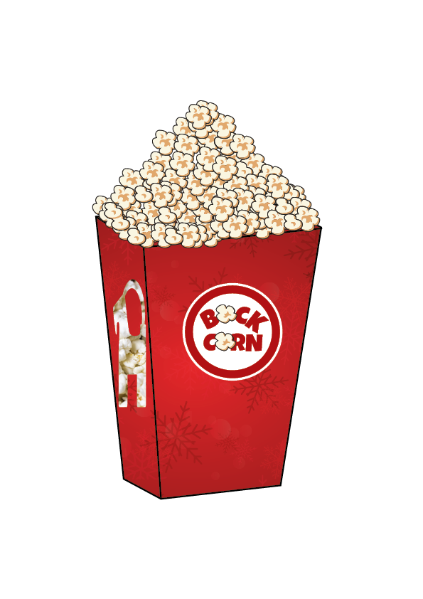 Bockcorn illustration förpackning