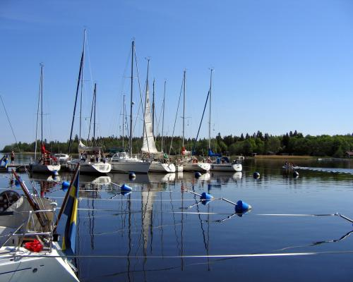 Boat- and guest harbor in Gävle